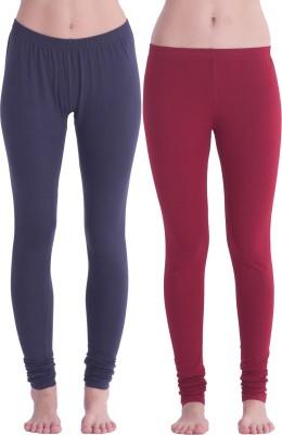 Spictex Girl's Grey, Red Leggings