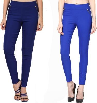 Dharamanjali Women's Dark Blue, Blue Jeggings