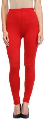 Beautic Women's Red, White Leggings