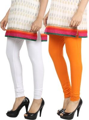 Bodymist Women's White, Orange Leggings