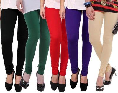 Shikha Women's Black, Green, Red, Blue, Beige Leggings