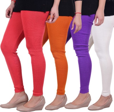 Sellsy Women's Orange, Purple, White, Orange Leggings