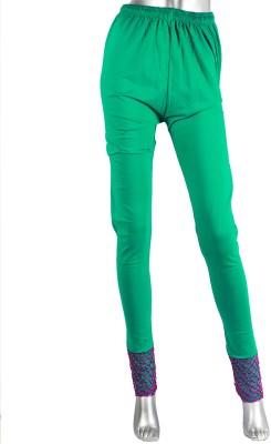 moKanc Women's Light Green Leggings