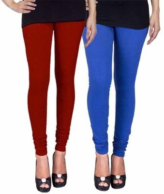 Ayesha Fashion Women's Maroon, Blue Leggings
