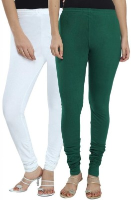 Ne Women's White, Green Leggings