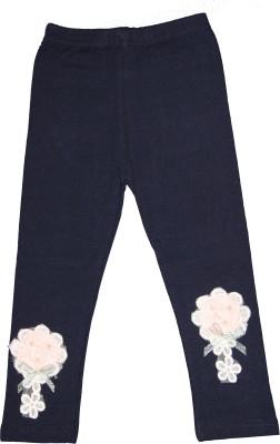 Habooz Girl's Dark Blue Leggings