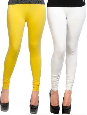 Design Classics Women's Yellow, White Leggings