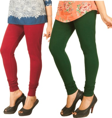 Berries Women's Maroon, Dark Green Leggings