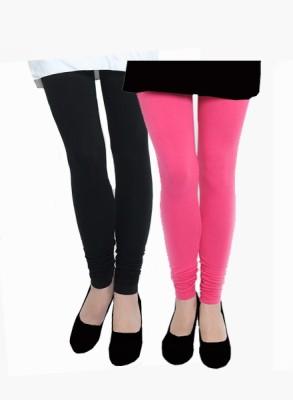 Uzee Women's Black, Pink Leggings