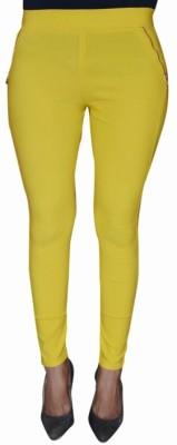 Back Eye Women's Yellow Jeggings