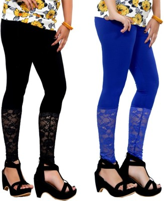 By The Way Women's Black, Blue Leggings