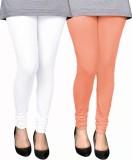 PAMO Women's White, Pink Leggings (Pack ...