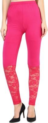 Aashish Fabrics Women's Pink Leggings