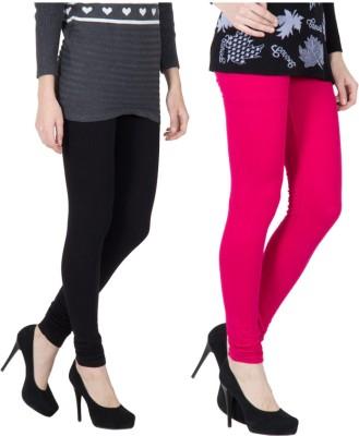 VERMELLO Women's Black, Pink Leggings