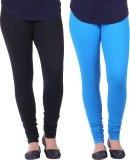 Vimal Women's Black, Blue Leggings (Pack...