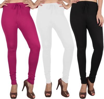 Danbro Women's White, Black, Pink Leggings