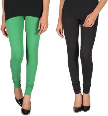 Ally Of Focker Women's Black, Green Leggings