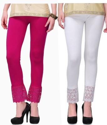 MDS Jeans Women's Pink, White Leggings