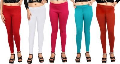 Comix Women's Red, White, Pink, Green, Orange Leggings