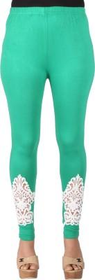 Ayesha Creations Women's Green Leggings