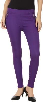 Lambency Women's Purple Jeggings