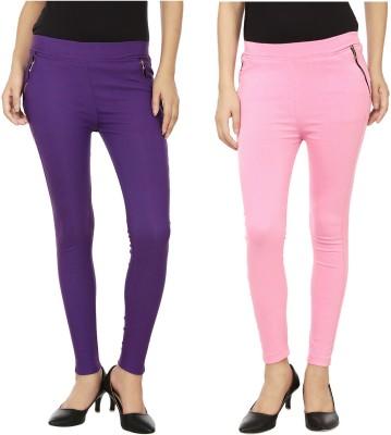 Emblazon Women's Purple, Pink Jeggings