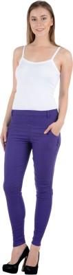 Tej Star Women's Purple Jeggings
