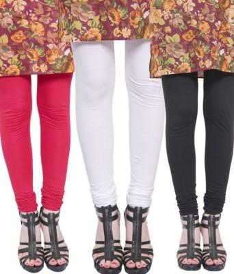 StyleJunction Women,s Black, White, Red Leggings