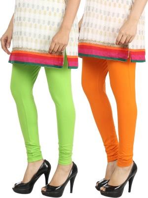 Bodymist Women's Green, Orange Leggings