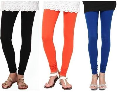 divine creations Women,s Black, Blue, Orange Leggings