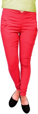 Vogue4all Women,s Red Jeggings