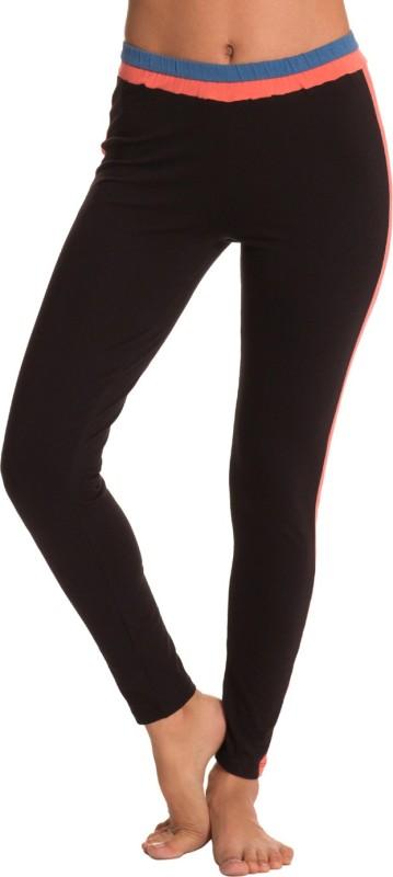 PrettySecrets Women's Black, Orange, Blue Leggings