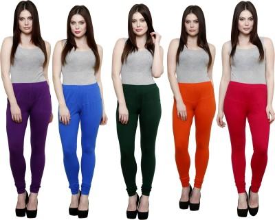 Pistaa Women's Purple, Blue, Dark Green, Orange, Pink Leggings
