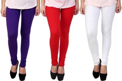 Legemat Girl,s Purple, Red, White Leggings