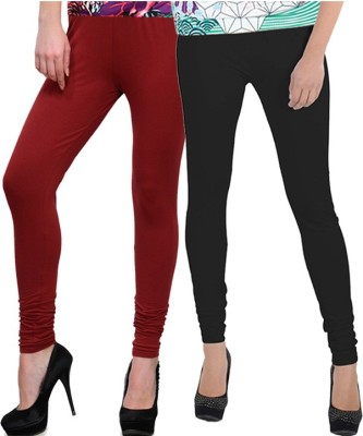 NGT Women's Maroon, Black Leggings