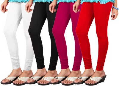 Anshul Textile Women's Red, Black, White, Pink Leggings