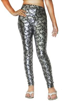 Srija,S Collection Women's Black, Silver Leggings