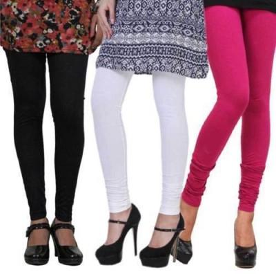 Ishani collections Women,s Black, White, Pink Leggings