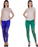 Simrit Women's Blue, Green Leggings (Pac...