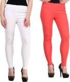 FIFO Women's White, Pink Jeggings (Pack ...