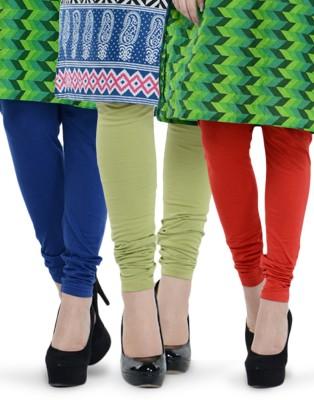 Tjaggies Women's Red, Light Green, Blue Leggings