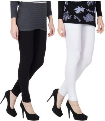 VERMELLO Women's Black, White Leggings