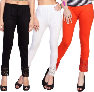 Comix Women's Black, White, Orange Leggings