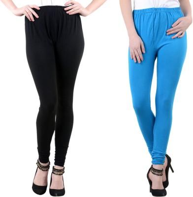 Mynte Women's Blue, Black Leggings