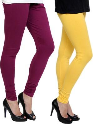 Pannkh Women's Yellow, Purple Leggings