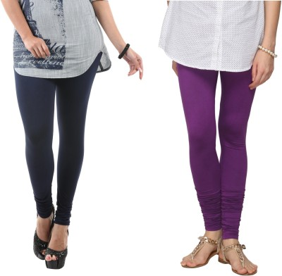 Fashionjackpot Women's Dark Blue, Purple Leggings