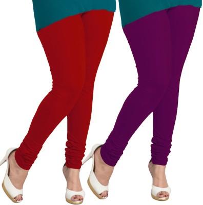 I-Diva Women's Red, Purple Leggings