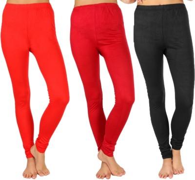 SLS Women's Red, Maroon, Black Leggings