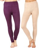 SLS Women's Purple, Beige Leggings (Pack...