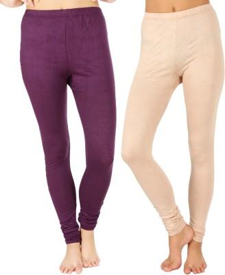 SLS Women's Purple, Beige Leggings